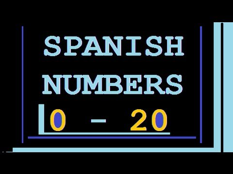 Number Zero in Spanish Spanish Numbers to 20
