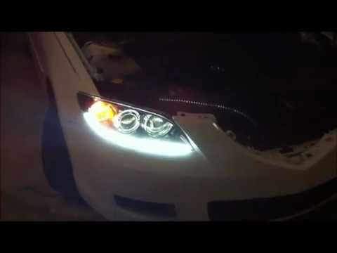 Old Tutorial How To Install Leds Inside Headlight Youtube