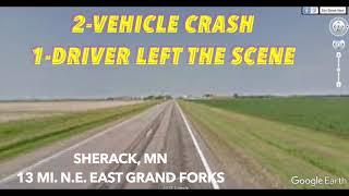 Two-Vehicle Crash Near East Grand Forks, 1 Driver Left Scene