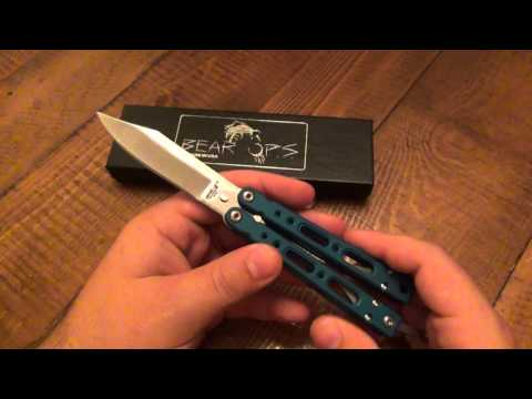 Knife Review : Bear-ops bearsong Iv (good Balisong Under $100) video