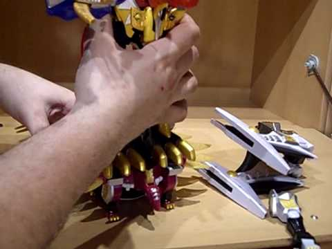 Power Rangers Dino Thunder 2 Megazord (Dinostego Zord) Review (German)