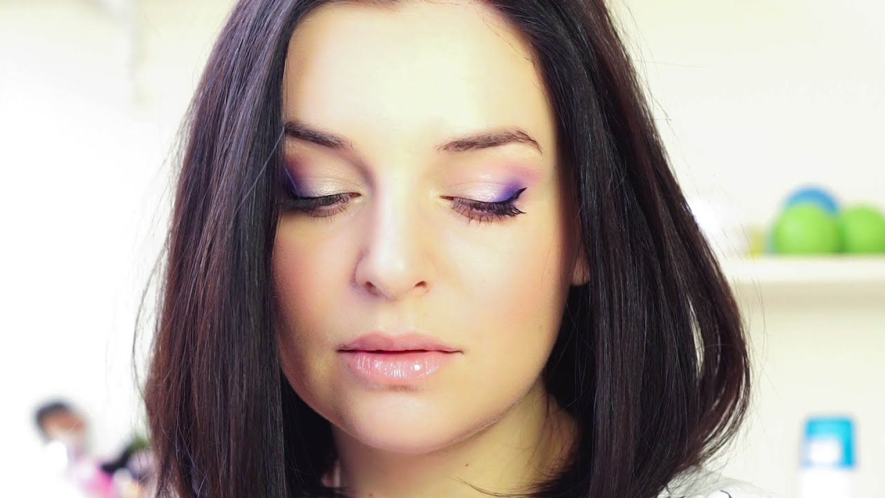 Неделя макияжей на каждый день с Nionila Bronstein. ДЕНЬ 1 - свежий макияж в сиреневым акцентом
