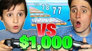9 YEAR OLD GETS $1,000 IF BEATS ME IN DEATHRACE