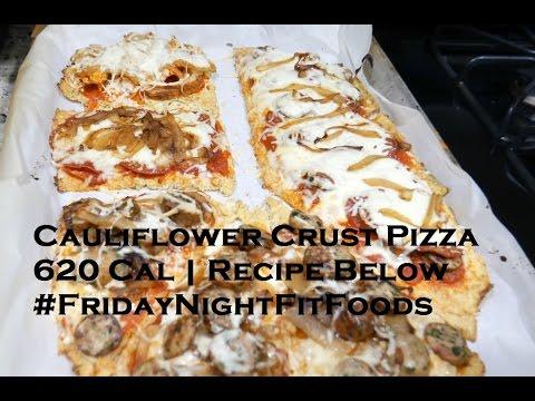 Cauliflower Crust Pizza | 620 Calories (Macros Below)