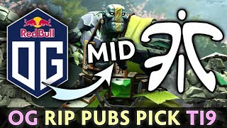 OG ruin our pubs with THIS PICK on TI9 — MID Earth Spirit vs FNATIC
