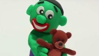Baby Hulk nostalgy 💕 Superhero Play Doh Stop Motion movie