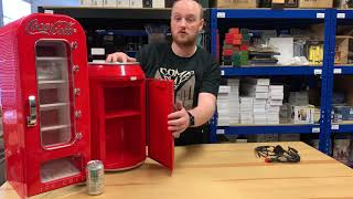 Coca Cola Cooler Video Review - Vending Machine and Coca Cola Can