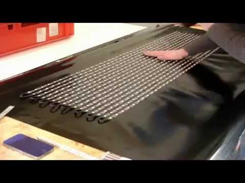 How to build a flexible LED Curtain display by LED strips with SD card controler Soft Display DIY