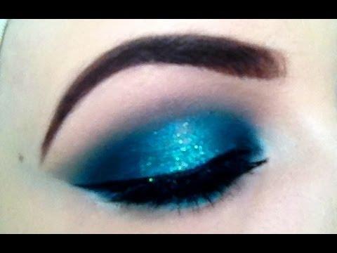 Makeup Tutorial Teal Aqua