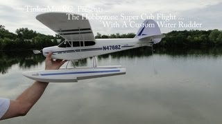 Hobbyzone Super Cub Flight With Custom Water Rudder