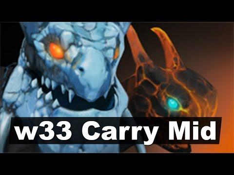 w33 Jakiro Carry Mid Ownage Dota 2