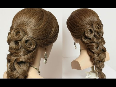 Bridal hairstyle for long hair tutorial