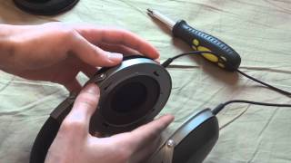 How to remove Denon AH-D2000 Cups - Disassembly guide - By TotallydubbedHD