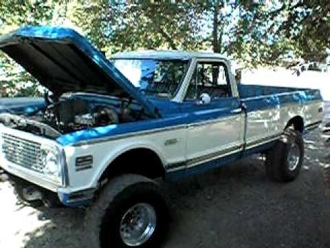 Bad azz 4x4 1972 Chevy Cheyenne Super Sport Truck Video