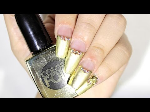 HOW TO: Gold Tip Nails ♥