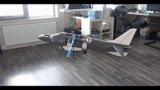 Rc Big Scale VTOL Harrier indoor hover test!