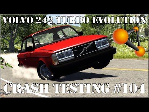 BeamNG.Drive Experimental Volvo 242 Turbo Evolution Crash Testing #104 HD