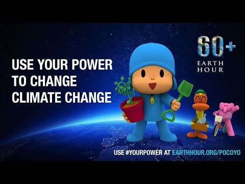 Pocoyo Uses His Power at Earth Hour 2015