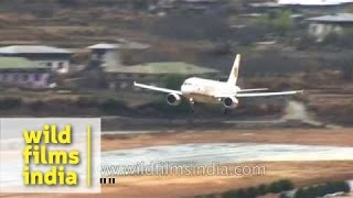 Most difficult landing in the world: Bhutan