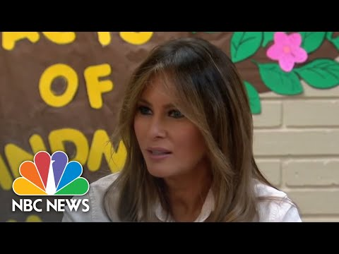 First Lady Melania Trump Visits Texas Migrant Detention Center   NBC News