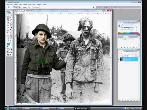 0 Photoshop: Coloring a black/white picture.