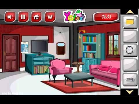 Glitter red living room escape game walkthrough youtube for Living room 94 game