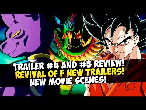 Dragon Ball Z Revival of F: Trailer #4 and #5 Review, New Scenes, Goku VS Frieza, Beerus, & More!