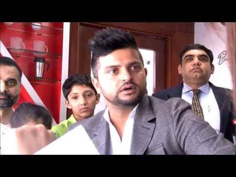 Health interviewd Cricketer Suresh Raina at the Launch of Spinal health Month