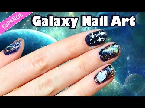 Galaxy Nails! Galaxy Nail Art Designs | Nail Art Tutorials - Halloween | Spanish Style video