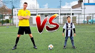 FOOTBALL CHALLENGES VS CRISTIANO RONALDO JR *HE'S GOOD*