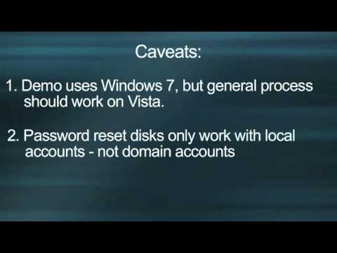 Create a Windows password reset disk on a USB flash drive