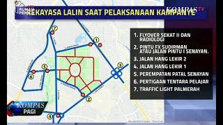 Rekayasa Lalu Lintas Saat Kampanye Jokowi-Ma'ruf Amin