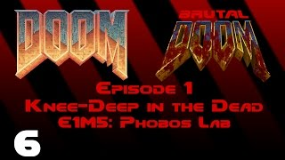 Doom - Knee-Deep in the Dead - E1M5: Phobos Lab (1993) [Brutal Doom v20b] [1080p60]