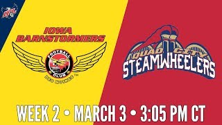 Week 2   Iowa Barnstormers at Quad City Steamwheelers