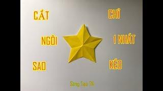 Một Nhát Kéo Cắt Ngôi Sao 5 Cánh Đơn Giản Nhất Vịnh Bắc Bộ - Cut the star with a scissors