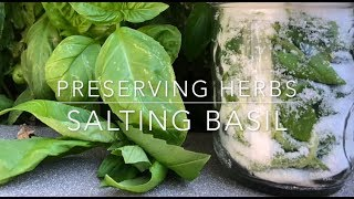 PRESERVE YOUR HERBS IN SALT: with Melissa K Norris: Homesteading Family