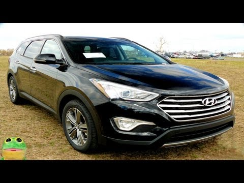 2013 Hyundai Santa Fe Long Wheelbase 7 passenger Review  6 Seat Limited Walk Around