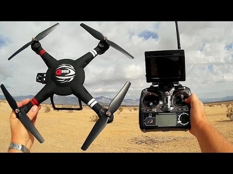 WLToys Q303-A Large Altitude Hold FPV Gimbal Drone Flight Test Review