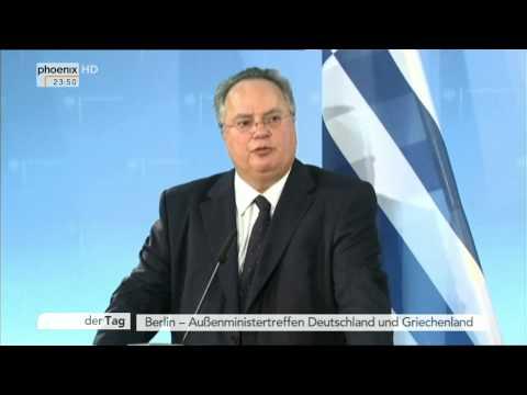 Finanzkrise Griechenlands: PK mit Frank-Walter Steinmeier und Nikos Kotzias am 10.02.2015