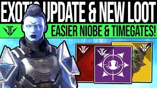 Destiny 2 | EXOTIC UPDATES & HIDDEN REWARDS! Easy Niobe, Quest Timegates, Curated Frames, TLW & More