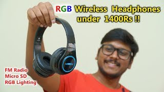Awesome RGB Wireless Headphones under 1400 Rs !!