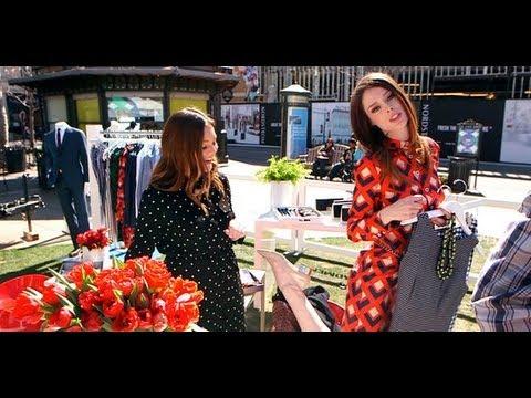 Coco Rocha Styles Allison Mod   Banana Republic Mad Men Collection   Fashion Flash