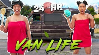 Living The VAN LIFE For 24hrs *Someone Tries To Break In!* (Inspired by Jennelle Eliana)