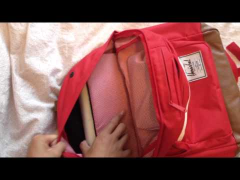 Herschel Pop Quiz Backpack (Red) HD Review/On Person