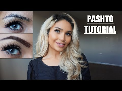 EYEBROW TUTORIAL IN PASHTO! (WITHOUT HAIR REMOVAL) | ENGLISH SUBTITLES