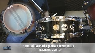 Snare drum wires test