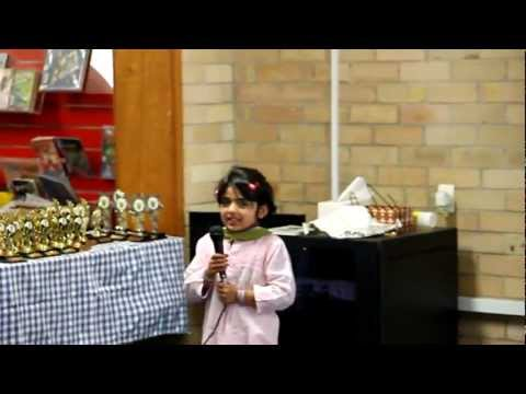 Garvita Bhandula Hindi School Poetry Competition Sydney Australia 16-09-2012