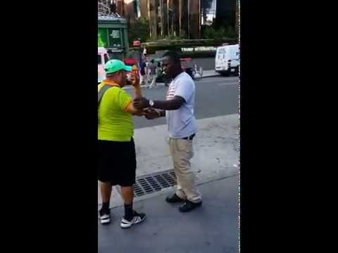 Illegal Central Park bike vendor punches another