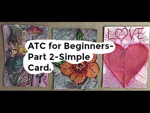 ATC for Beginners-Part 2-Simple Cards