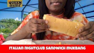 Queen ASMR 👸 - Jimmy Johns Italian Nightclub 🥪Mukbang With Salt And Vinegar Chips